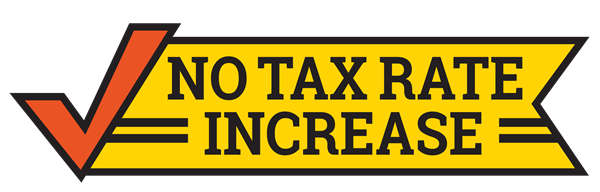 no tax rate increase