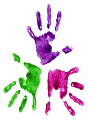 Picture of Childrens handprints
